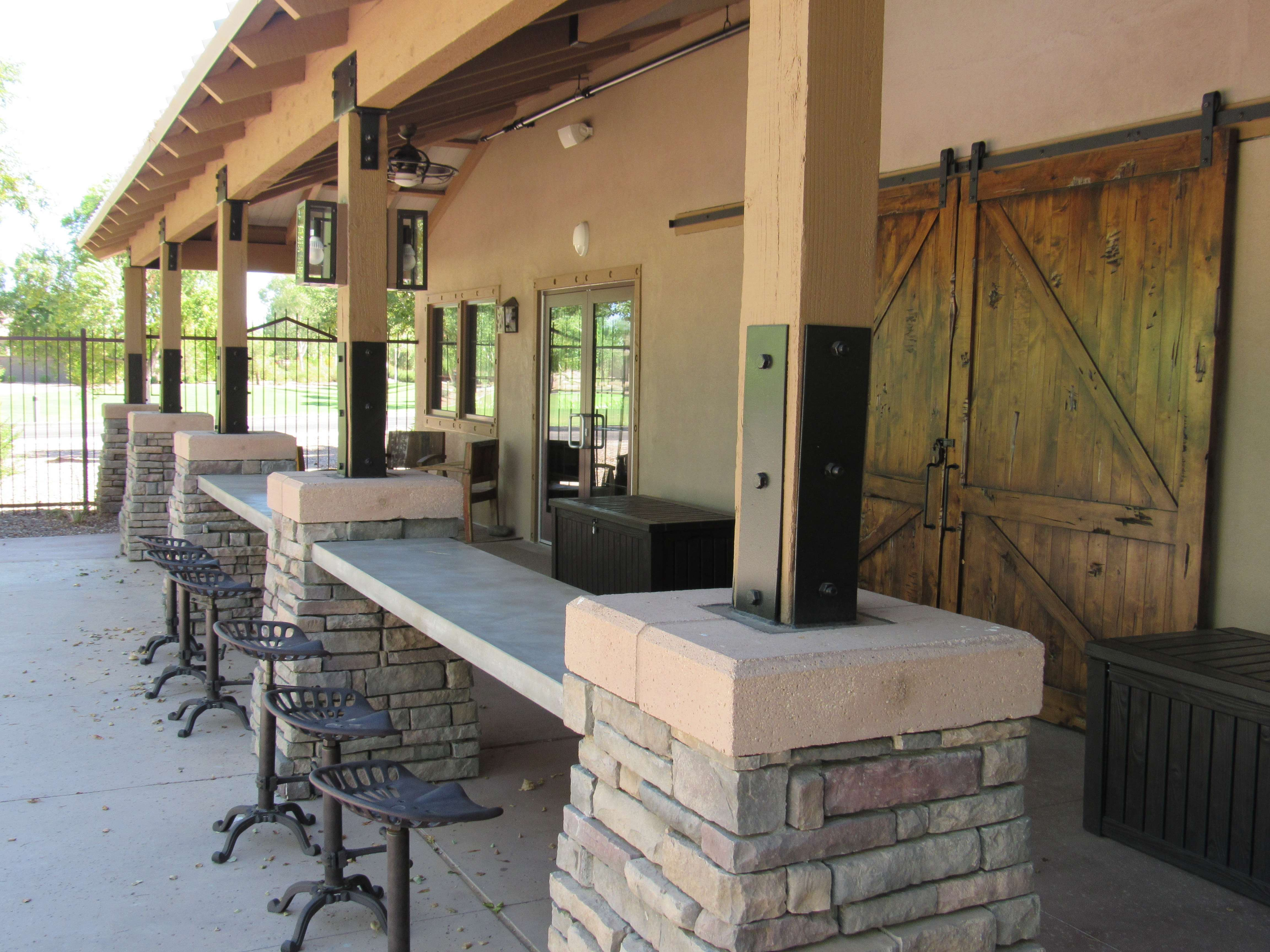 Outdoor Bar Seating