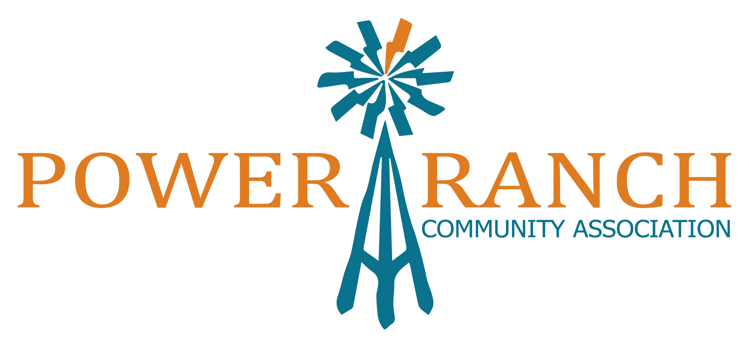 Orange and Teal PR logo